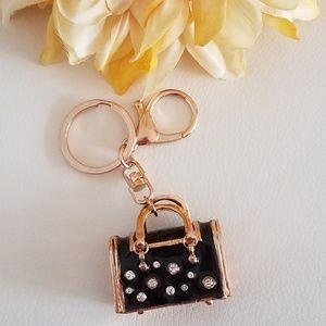Black Purse Keychain